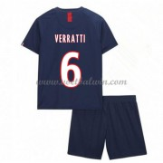 Paris Saint Germain PSG Voetbaltenue Kind 2019-20 Marco Verratti 6 Thuisshirt..